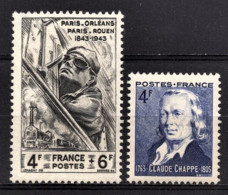FRANCE 1944 - LOT 2 TP NEUFS**  Y.T. N° 618 / 619 - France