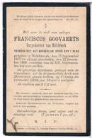 Dp. Burgemeester Van Melsbroeck. Goovaerts Franciscus. ° Melsbroeck 1817 † Melsbroeck 1898 - Religion & Esotericism