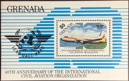Grenada 1985 ICAO Anniversary Aircraft Minisheet MNH - Grenada (1974-...)