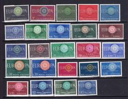 24 Postfrisse CEPT  EUROPA-zegels 1960 - Europa-CEPT