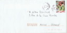 Polynésie Yvert 765  Femmes Papeete 9/5/2006 Lettre à Autun Saône Et Loire - Frans-Polynesië