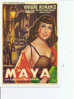 """Acteurs - Actrices - Viviane Romance ( Carte Commémorative De L'affiche Belge Du Film """"MAYA """" à Voir) - Acteurs"""