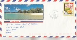 Polynésie Yvert 588 Fruits Du Fenua Arbre à Pain  Mahina 27/9/1999 Lettre Illustrée Recto Verso à Autun Saône Et Loire - Frans-Polynesië