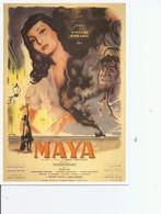 """Acteurs - Actrices - Viviane Romance ( Carte Commémorative De L'affiche De Desme Du Film """"MAYA """" à Voir) - Acteurs"""