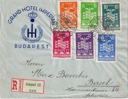 HONGRIE 1937 LETTRE RECOMMANDEE DE BUDAPEST AVEC CACHET ARRIVEE BASEL - Hongrie