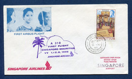 Mauritius - Premier Vol - Mauritius - Singapore - Singapore Airlines 1985 - Airplanes
