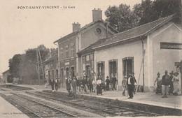 N°4760 R -cpa Pont Saint Vincent -la Gare- - Bahnhöfe Ohne Züge