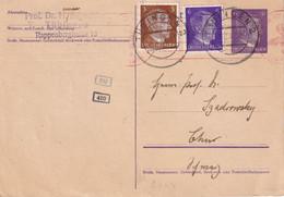 ALLEMAGNE 1942  ENTIER POSTAL/GANZSACHE/POSTAL STATIONARY CARTE CENSUREE DE TÜBINGEN POUR CHUR - Enteros Postales