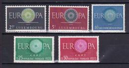5 Postfrisse CEPT  EUROPA-zegels 1960 - Europa-CEPT