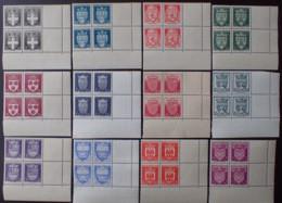 R1947/234 - 1942 - ARMOIRIES DE VILLES (II) SERIE COMPLETE - BLOCS N°553 à 564 NEUFS** CdF - Cote : 240,00 € - France