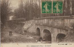 D60 - LIANCOURT - LE LAVOIR - Femme Au Travail - Brouette - Carte Sépia - Liancourt