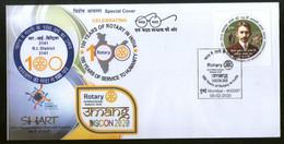 India 2020 Rotary International Mumbai Special Cover # 6523 - Rotary, Lions Club