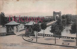 (01) Trévoux - Le Pont Suspendu - Colorisée - Trévoux