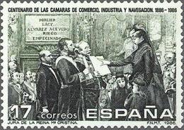 España 1986 Edifil 2845 Sello ** I Cent. Creación De Las Cámaras De Comercio, Industria Y Navegación Michel 2724 - 1931-Aujourd'hui: II. République - ....Juan Carlos I