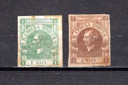 Serbia  1868  .-   Y&T  Nº    14/15 - Serbie