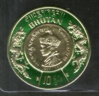 Bhutan 1966 King Jigme Wangchuk Gold Coin Sc 83 Odd Shaped Stamp MNH # 3231 - Bhutan