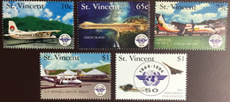 St Vincent 1994 ICAO Anniversary Aircraft MNH - St.Vincent & Grenadines