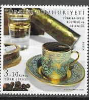 TURKEY, 2020,  MNH, COFFEE, DRINKS, TURKISH COFFEE,1v - Autres