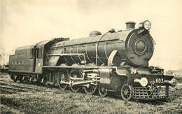 Thème Train Locomotives Des Indes Anglaises Machine N°603  CP Ed. H.M.P. N°854 Locomotive Vapeur - Trains