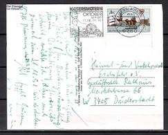 BRD; MiNr. 1598, 750 Jahre Stadt Kiel, Auf Portoger. Karte Von Kaiserslautern Nach Duderstdt; B-1553 - [7] Federal Republic