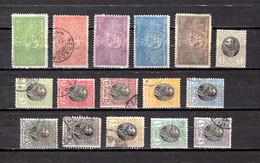 Serbia  1904-05  .-   Y&T  Nº    74/78-82/92 - Serbie