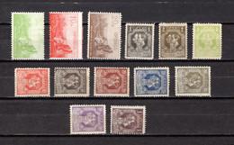 Serbia  1915-18  .-   Y&T  Nº    126/127-129-133/138-140/143 - Serbie