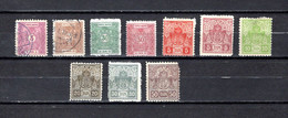 Serbia  1895-1919  .-   Y&T  Nº    1-3/5-8/13   Taxa      ( 12/13   Falta Punta  ) - Serbie