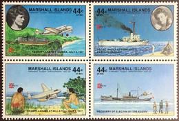 Marshall Islands 1987 Capex Amelia Earhart Aircraft Ships MNH - Marshallinseln