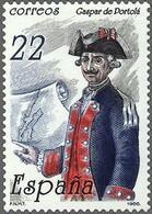 España 1986 Edifil 2866 Sello ** Centenario De La Muerte De Gaspar De Portolá Y Rovira Michel 2749 Yvert 2484 Spain - 1931-Aujourd'hui: II. République - ....Juan Carlos I