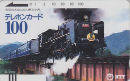TC Ancienne JAPON / NTT 230-010 ** 100 U ** TBE - STEAM TRAIN LOCOMOTIVE - JAPAN Front Bar Phonecard - Balken TK - Treni