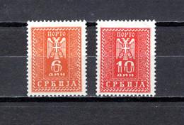 Serbia  (  Ocupación Alemana  )    1943 .-   Y&T  Nº    20/21     Servicio     *  C/charniere - Serbie