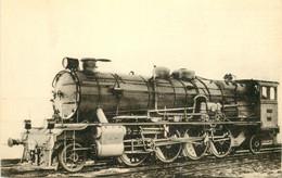 Thème Train Locomotives Du Maroc Machine 141 A 2 Type PO 5801 CP Ed. H.M.P. N°613 Locomotive Vapeur - Trenes