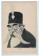 IRAN PERSE #16202 LE SHAH MOZZAFAREDIN CARICATURE SATYRE POLITIQUE ILLUSTRATEUR LEAL DE CAMARA - Iran
