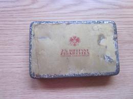 Old Tin Box 25 Heliane Zigaretten Osterr. Tabak Regie - Empty Tobacco Boxes