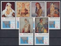 Romania  Michel # 2931 - 36 **  Mit Zierfeld - Unused Stamps