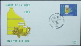 Belgium - FDC 1986 Beer - Bières