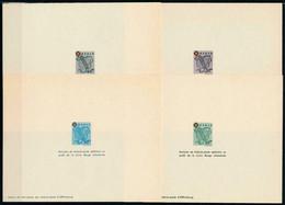 French Zone - Baden 1949 - Red Cross , Yvert# 38/41 , Scott# 5NB1/4a - 04 PROOFS - Scarce - Franse Zone