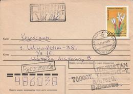 OUZBEKISTAN LETTRE RECOMMANDEE POUR LA FRANCE 1995 - Uzbekistan