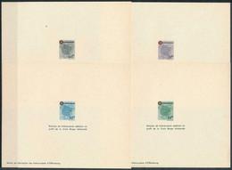 French Zone - Wurtemberg 1949 - Red Cross , Yvert# 38/41 , Scott# 8NB1/4 - 04 PROOFS - Scarce - French Zone