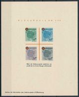 French Zone - Wurtemberg 1949 - Red Cross , Yvert# Bloc 1 , Scott# 8NB4 - Souv Sheet PROOF - Scarce ! - French Zone