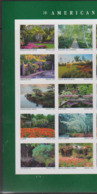 USA, 2020, MNH, AMERICAN GARDENS, BOTANICAL GARDENS, TREES, FLOWERS, 10v Ex. SHEETLET - Árboles