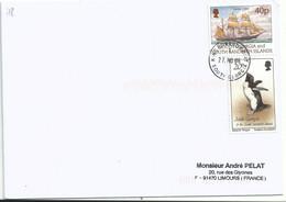 Voilier Hertha - Manchot Macaroni - King Edward - Géorgie Du Sud - Géorgie Du Sud
