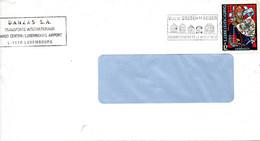 LUXEMBOURG. N°1177 De 1989 Sur Enveloppe Ayant Circulé. Vitrail/Charles IV. - Vetri & Vetrate