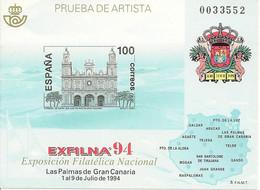 España Prueba Oficial  Edifil 33 Exfilna'94  Las Palmas  1994  NL274 - 1931-Aujourd'hui: II. République - ....Juan Carlos I