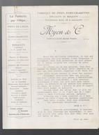 Saint Claude (39 Jura) Double Feuille LYON ET CIE Fabrique De Pipes (M0753) - Pubblicitari