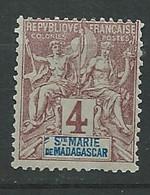 Sainte Marie De Madagascar - - Yvert N°  3  (*)   - Ay 16613 - Oblitérés