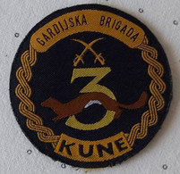 3. GARDIJSKA BRIGADA KUNE OSIJEK 3. Guards Brigade 3. Brigade De La Garde Croatia Army Armee PATCH - Scudetti In Tela