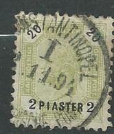 Levant Autrichien - Yvert N° 28 Oblitéré - Ay 16646 - Levant Autrichien