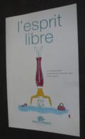 Carton Publicitaire 2 Pages (15 X 24) L'esprit Libre (Printemps) Illustration : Savignac - Advertising