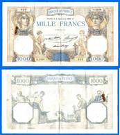 France 1000 Francs 1936 3 Septembre Prefix G Ceres Mercure Que Prix + Port Grand Billet Frcs Frc Paypal Bitcoin - 1 000 F 1927-1940 ''Cérès Et Mercure''